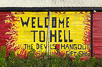 TR40015-D. colorful building in Hell, a small village (and big tourist attraction) in the West Bay area on Grand Cayman, Cayman Islands.<br /> Photo Copyright &copy; Brandon Cole. All rights reserved worldwide.  www.brandoncole.com
