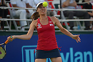 July 8, 2013  (Washington, DC)  Former U.S. Open winner Martina Hingis plays for the Washington Kastles during the teams home opener July 8, 2013.  The Kastles won the game and tied the longest winning streak in U.S. pro sports history with 33 consecutive wins. (Photo by Don Baxter/Media Images International)