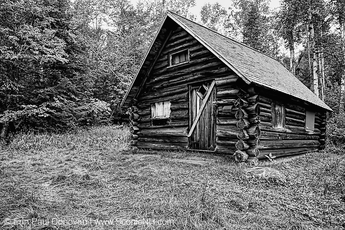 The Fabyan Guard Station - Built in 1923 by Clifford Graham along the old Jefferson Turnpike (now Old Cherry Mountain Road) in the White Mountains, New Hampshire. It's the last remaining guard station in the White Mountain National Forest. The cabin was built using spruce logs from the surrounding area.