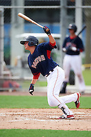 GCL Red Sox shortstop Imeldo Diaz (10) at bat during the first game of a doubleheader against the GCL Rays on August 9, 2016 at JetBlue Park in Fort Myers, Florida.  GCL Rays defeated GCL Red Sox 5-4.  (Mike Janes/Four Seam Images)