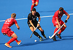 Simon Child during the Pro League Hockey match between the Blacksticks Women and Belgium, National Hockey Arena, Auckland, New Zealand, Sunday 2 February 2020. Photo: Simon Watts/www.bwmedia.co.nz