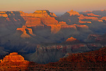 Sunset view of the Grand Canyon.