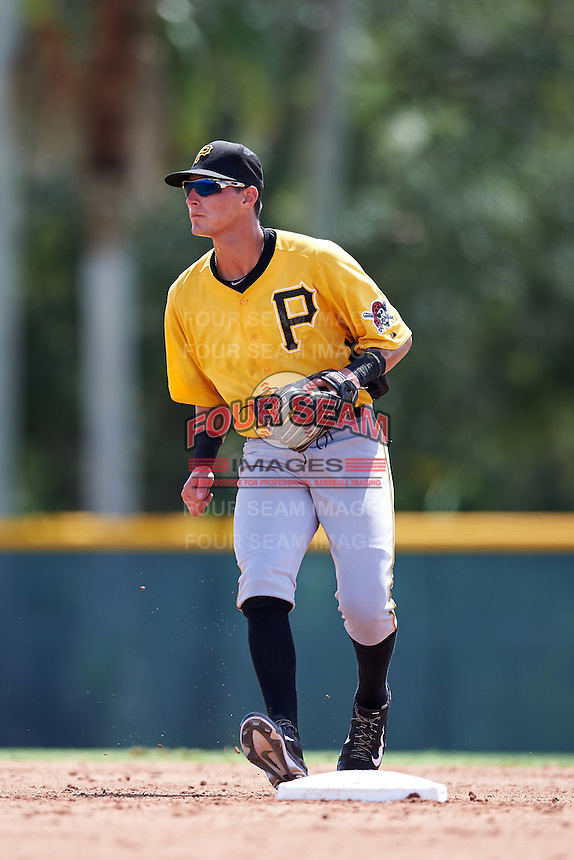 Pittsburgh Pirates shortstop Tyler Leffler (38) during an Instructional League Intrasquad Black & Gold game on September 28, 2016 at Pirate City in Bradenton, Florida.  (Mike Janes/Four Seam Images)