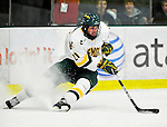 12 December 2009: University of Vermont Catamount forward Jack Downing, a Junior from New Canaan, CT, in action against the St. Lawrence University Saints at Gutterson Fieldhouse in Burlington, Vermont. The Catamounts shut out their former ECAC rival Saints 3-0. Mandatory Credit: Ed Wolfstein Photo