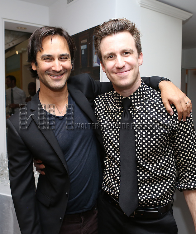 Robbie Routh and Gavin Creel attend 'Parlor Night' A benefit evening for The Broadway Inspirational Voices Outreach Program at the home of Roy and Jenny Neiderhoffer on June 22, 2015 in New York City.