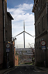 Urban wind turbine, Lowestoft, Suffolk, England 2.75mW wind power generator at Lowestoft's Ness Point has at last been installed. This wind energy turbine will generate power for 1,500 homes. This Wind power generator is the tallest to be built in Europe.