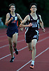Jack Rosencrans of North Shore legs out a victory in the boys 3,200 meter race during Day 1 of the Nassau County track & field individual championships and state qualifiers at North Shore High School in Glen Head on Wednesday, May 30, 2018.