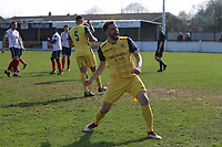 Bradley Warner of Hornchurch celebrates a goal during Witham Town vs AFC Hornchurch, Bostik League Division 1 North Football at Spa Road on 14th April 2018