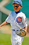 2 July 2005: Darren Baker, young son of Chicago Cubs' Manager Dusty Baker, and infamous in the 2002 World Series as bat boy for the Giants, plays on the field prior to a game against the Washington Nationals. The Nationals defeated the Cubs 4-2 in front of 40,488 at Wrigley Field in Chicago, IL. Mandatory Photo Credit: Ed Wolfstein