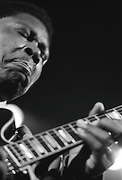 BB King, legendery blues guitarist, performing at the Rainbow Theater in London England, 1972