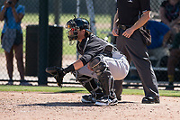 Chicago White Sox catcher Michael Hickman (26) during an Instructional League game against the Oakland Athletics at Lew Wolff Training Complex on October 5, 2018 in Mesa, Arizona. (Zachary Lucy/Four Seam Images)