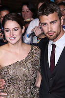 "WESTWOOD, LOS ANGELES, CA, USA - MARCH 18: Shailene Woodley, Theo James at the World Premiere Of Summit Entertainment's ""Divergent"" held at the Regency Bruin Theatre on March 18, 2014 in Westwood, Los Angeles, California, United States. (Photo by David Acosta/Celebrity Monitor)"