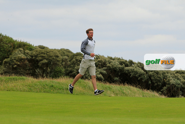 Sean Flanagan (Co. Sligo) on the 15th fairway during the Final (Matchplay) in the North of Ireland Amateur Open Championship sponsored by Cathedral Eye Clinic at Portrush Golf Club, Portrush on Friday 15th July 2016.<br /> Picture:  Thos Caffrey / www.golffile.ie