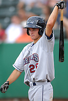 Mahoning Valley Scrappers' INF NICK BARTOLONE during a game vs. the Lowell Spinners at LaLacheur Park in Lowell, Massachusetts August 15, 2010.   Photo By Ken Babbitt/Four Seam Images