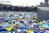2nd February 2019, Cardiff City Stadium, Cardiff, Wales; EPL Premier League football, Cardiff City versus AFC Bournemouth; Cardiff City supporters take a moment to pay respects to Emiliano Sala