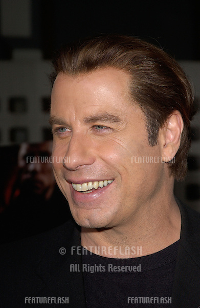 Actor JOHN TRAVOLTA at the Los Angeles premiere of his new movie The Punisher..April 12, 2004