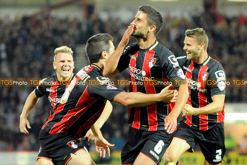 Andrew Surman of AFC Bournemouth boows kisses to the fans after scoring - AFC Bournemouth vs Leeds United - Sky Bet Championship Football at the Goldsands Stadium, Kings Park, Boscombe, Bournemouth, Dorset - 16/09/14 - MANDATORY CREDIT: Denis Murphy/TGSPHOTO - Self billing applies where appropriate - contact@tgsphoto.co.uk - NO UNPAID USE