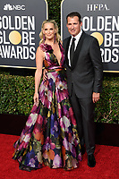 Molly Sims and Scott Stuber attend the 76th Annual Golden Globe Awards at the Beverly Hilton in Beverly Hills, CA on Sunday, January 6, 2019.<br /> *Editorial Use Only*<br /> CAP/PLF/HFPA<br /> Image supplied by Capital Pictures