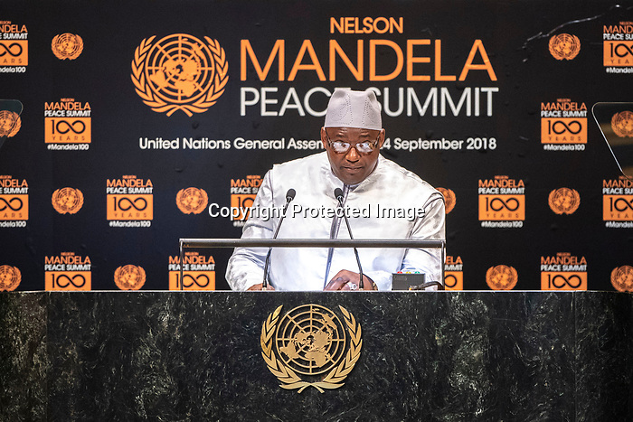 Opening Plenary Meeting of the Nelson Mandela Peace Summit<br /> <br /> His Excellency Adama BARROWPresident of the Republic of The Gambiaa