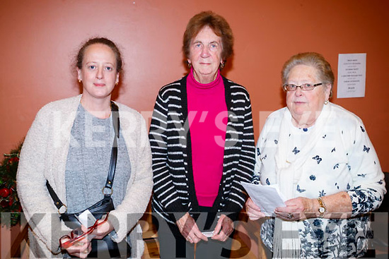 Breda, Kathleen and Bridie Moloney, pictured at St. John's Parish Bazaar, held at the KDYS, Tralee on Saturday night last.