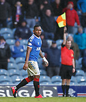 16.02.2020 Rangers v Livingston: Alfredo Morelos scores but the linesman disallows it