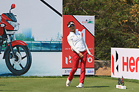 Yi Keun Chang (KOR) in action on the 11th during Round 1 of the Hero Indian Open at the DLF Golf and Country Club on Thursday 8th March 2018.<br /> Picture:  Thos Caffrey / www.golffile.ie<br /> <br /> All photo usage must carry mandatory copyright credit (&copy; Golffile | Thos Caffrey)