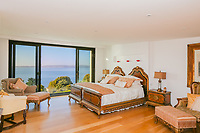 BNPS.co.uk (01202 558833)<br /> Pic: KnightFrank/BNPS<br /> <br /> Yours for 3 million pounds - Mediterranean style views...from a seaside home in Torquay.<br /> <br /> This modern and contemporary property is in one of the most exclusive areas of Torquay in Devon and has spectacular views of Tor Bay.<br /> <br /> In the foreground in the rocky outcrop known as Thatcher's Rock.<br /> <br /> But the coastal landmark isn't named after the late Tory Prime Minister but the fact that from certain angles the rock formation looks like a thatcher working on a roof.