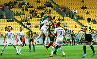 Action from the A-League football match between Wellington Phoenix and Sydney Wanderers at Westpac Stadium in Wellington, New Zealand on Saturday, 13 January 2018. Photo: Mike Moran / lintottphoto.co.nz