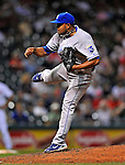 13 September 2008: Kansas City Royals' pitcher Ramon Ramirez on the mound against the Cleveland Indians at Progressive Field in Cleveland, Ohio. The Royals defeated the Indians 8-4 in the second game, sweeping their double-header...Mandatory Photo Credit: Ed Wolfstein Photo