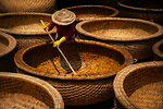 Worker makes bamboo boat Pham Quoc Hung