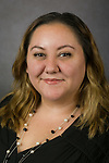 Lorna Diaz, Assignments Assistant, Housing Services, Facilities Operations, DePaul University, is pictured in a studio portrait Sept. 28, 2017. (DePaul University/Jeff Carrion)