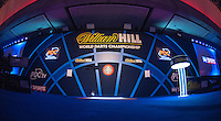 30.12.2014.  London, England.  William Hill PDC World Darts Championship.  A general view of the stage on day 10 of the 2015 William Hill World Darts Championship.