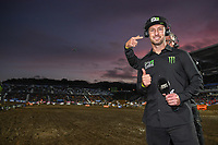 Commentator Lee Hogan<br /> 2018 SX Open - Auckland / SX 1<br /> FIM Oceania Supercross Championships<br /> Mt Smart Stadium / Auckland NZ<br /> Saturday Nov 24th 2018<br /> © Sport the library/ Jeff Crow / AME
