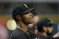 Pittsburgh Pirates minor league field coordinator Bobby Scales takes in the International League game between the Indianapolis Indians and the Charlotte Knights at BB&T BallPark on April 27, 2019 in Charlotte, North Carolina. The Indians defeated the Knights 8-4. (Brian Westerholt/Four Seam Images)