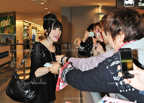 Carly Rae Jepsen, Nov 06, 2012 : Carly Rae Jepsen, November 6, 2012, Tokyo, Japan : Singer Carly Rae Jepsen arrives at Narita International Airport in Chiba prefecture, Japan on November 6, 2012.