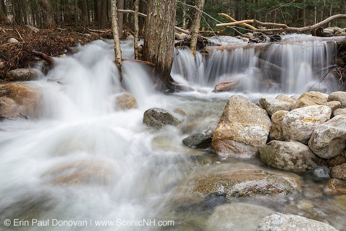 Lafayette Brook in Franconia, New Hampshire USA during the spring months.