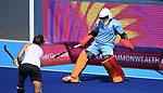 Maddie Hinch (Team England, ENG, goalkeeper). Womens hockey training. Commonwealth games hockey centre. Queensland. Australia. Gold Coast 2018. 03/04/2018. ~ MANDATORY CREDIT Garry Bowden/SIPPA - NO UNAUTHORISED USE - +44 7837 394578