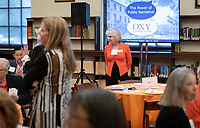 Anne Wilson Cannon '74<br /> Occidental College launched the public phase of the Oxy Campaign For Good, a comprehensive effort to raise $225 million to strengthen its financial aid endowment and academic and co-curricular programs, at a May 18, 2019 Campaign Leadership Summit on the Occidental campus. More than 100 Oxy community members participated, getting a first-hand look at current programs and celebrated what the Campaign means for the future of Oxy.<br /> (Photo by Marc Campos, Occidental College Photographer)
