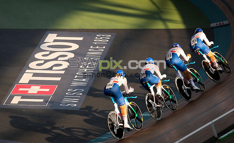 Picture by Alex Whitehead/SWpix.com - 19/02/2017 - Cycling - Tissot UCI Track Cycling World Cup - Velodromo Alcides Nieto Patino, Cali, Colombia - Tissot Branding.