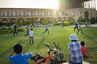 June 18, 2014 - Isfahan (Iran). Young kids play footbal in the Naqsh-e Jahan Square, one of the most iconic landmark of Isfahan. © Thomas Cristofoletti / Ruom