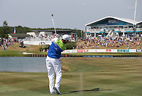 Leader Jaco Van Zyl (RSA) plays to the last during Round Three of the 2015 Alstom Open de France, played at Le Golf National, Saint-Quentin-En-Yvelines, Paris, France. /04/07/2015/. Picture: Golffile | David Lloyd<br /> <br /> All photos usage must carry mandatory copyright credit (© Golffile | David Lloyd)