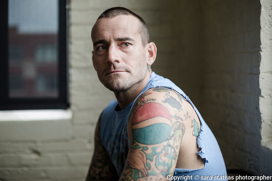 Former WWF Wrestler, CM Punk (Phil Brooks) photographed at his apartment in Milwaukee.
