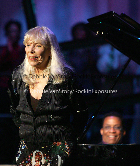 Herbie Hancock & Joni Mitchell performs live at The Nissan Live Sets on Yahoo! Music held at Fox Studios in Century City, California on March 20,2008                                                                     Copyright 2007 Debbie VanStory/RockinExposures