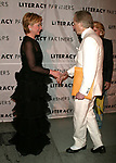 Tom Wolfe and Hillary Rodham Clinton attending  the Literacy Partners 20th  Annual Gala,<br />AN EVENING OF READINGS at Lincoln Center, Honoring Tom Brokaw, Tim Russert and Jack Welch.<br />May 3, 2004