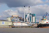 The Tate and Lyle sugar refinery at Silvertown, on the River Thames, London.