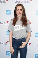 Lilly Collins<br /> arriving for WE Day 2018 at Wembley Arena, London<br /> <br /> ©Ash Knotek  D3386  07/03/2018