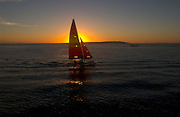 Catamaran sailors enjoy the last rays of sun and sand off the Playa Mansa beach in Punta del Este, Uruguay. The venerable South American beach resort is having a rennaisance. (Kevin Moloney for the New York Times)