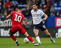 Bolton Wanderers' Yanic Wildschut competing with Walsall's Zeli Ismail<br /> <br /> Photographer Andrew Kearns/CameraSport<br /> <br /> Emirates FA Cup Third Round - Bolton Wanderers v Walsall - Saturday 5th January 2019 - University of Bolton Stadium - Bolton<br />  <br /> World Copyright &copy; 2019 CameraSport. All rights reserved. 43 Linden Ave. Countesthorpe. Leicester. England. LE8 5PG - Tel: +44 (0) 116 277 4147 - admin@camerasport.com - www.camerasport.com