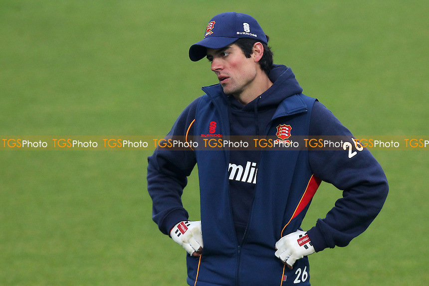 Alastair Cook of Essex looks on as rain delays the start of play on Day One - Surrey CCC vs Essex CCC - LV County Championship Division Two Cricket at the Kia Oval, Kennington, London - 20/04/14 - MANDATORY CREDIT: Gavin Ellis/TGSPHOTO - Self billing applies where appropriate - 0845 094 6026 - contact@tgsphoto.co.uk - NO UNPAID USE