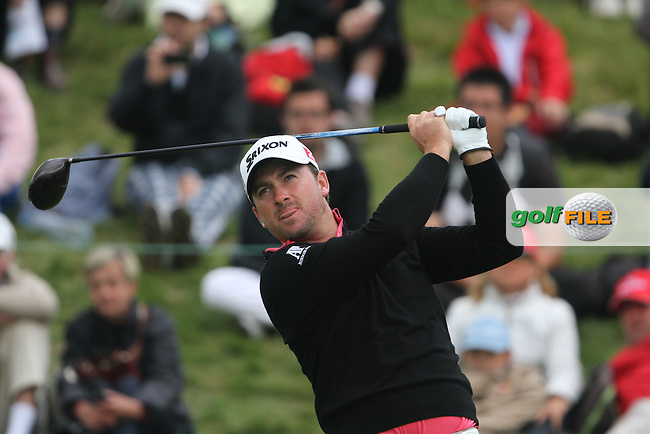 Graeme McDowell (NIR) on the 1st on Day 4 of the Alstom Open de France at Golf National,  Saint-Quentin-En-Yvelines, Paris, France, 8/7/12...(Photo Jenny Matthews/www.golffile.ie)